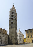 Piazza del Duomo, Pistoia stock photography