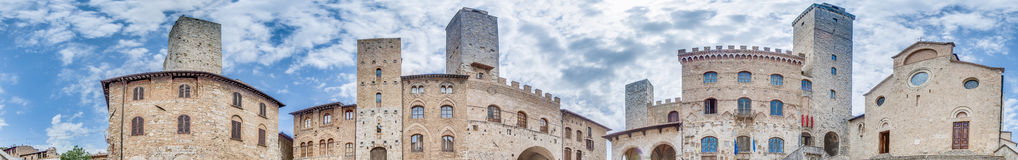 Piazza del Duomo in San Gimignano, Italy Royalty Free Stock Images