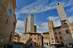 Piazza del Duomo. San Gimignano. Tuscany. Italy Stock Photo