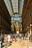Piazza del Duomo- shopping gallery Stock Photography