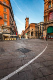 Piazza del Duomo and Via dei Mercanti in the Morning, Milan Royalty Free Stock Images