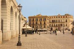 Piazza del Ferrarese _ Apulia eller Puglia italy arkivfoton