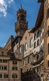 Piazza del Grano, Tuscany royalty free stock photography