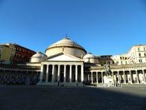 Piazza del Plebiscito fra le ombre e le luci immagine stock libera da diritti