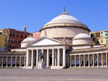 Piazza del Plebiscito, Naples Stock Images