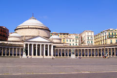 Piazza del Plebiscito, Naples Royalty Free Stock Photo