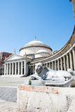 Piazza del Plebiscito, Naples, Italy Royalty Free Stock Photo