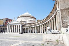 Piazza del Plebiscito, Naples, Italy Royalty Free Stock Images