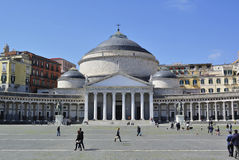 Piazza del Plebiscito, Naples, Italy Stock Photography