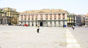 Piazza del Plebiscito a Napoli Fotografia Stock