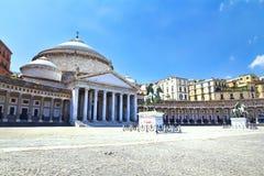 Piazza del Plebiscito, Napoli Stock Images