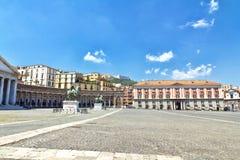 Piazza del Plebiscito, Napoli Stock Photography