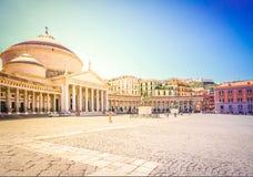 Piazza del Plebiscito, Napoli Italia fotografia stock libera da diritti