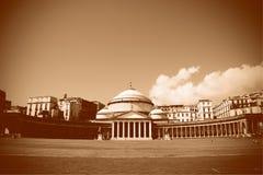 Piazza Del Plebiscito, Napoli (Neapel) Lizenzfreie Stockfotos