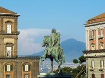 Piazza Del Plebiscito, Neapel Stockfoto