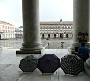 Piazza del Plebiscito ,rainy day in autumn. Stock Photography