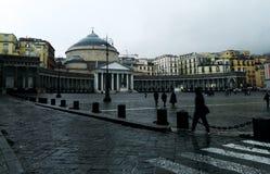 Piazza del Plebiscito in un giorno piovoso illustrazione di stock