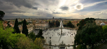 Piazza del Popola. Picture taken in Rome, Italy Stock Photography