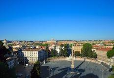 Piazza del Popolo,罗马,意大利 免版税库存照片
