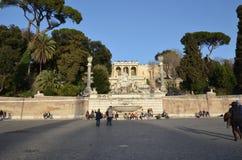 Piazza del Popolo, ορόσημο, ανθρώπινη τακτοποίηση, πλατεία της πόλης, διακοπές Στοκ φωτογραφίες με δικαίωμα ελεύθερης χρήσης