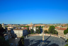 Piazza del Popolo, Ρώμη, Ιταλία Στοκ φωτογραφία με δικαίωμα ελεύθερης χρήσης