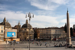 Piazza del Popolo στη Ρώμη, Ιταλία Στοκ φωτογραφία με δικαίωμα ελεύθερης χρήσης