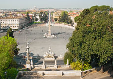 Piazza del Popolo. View on Piazza del Popolo , Rome, Italy Royalty Free Stock Photography