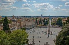 Piazza del Popolo Photographie stock libre de droits