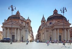 Piazza del Popolo Stock Photography