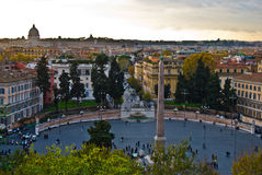 Piazza del Popolo Royalty Free Stock Photos