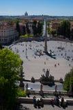 Piazza del Popolo Fotografia Stock