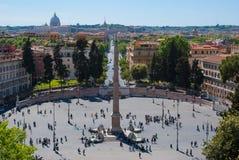 Piazza del Popolo Royalty Free Stock Photo
