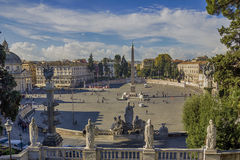Piazza del Popolo Fotografering för Bildbyråer