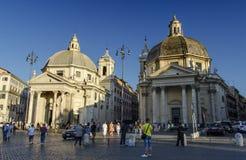 Piazza del popolo Stock Afbeeldingen