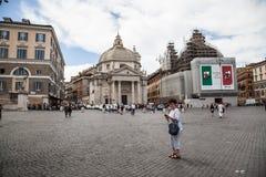 Piazza del popolo Royalty-vrije Stock Afbeeldingen