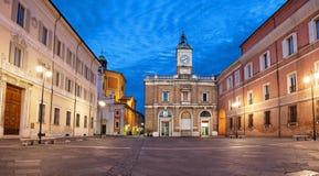 Piazza Del Popolo am Abend, Ravenna stockfoto