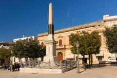 Piazza del Popolo, Alberobello Apulia Italië Stock Afbeelding