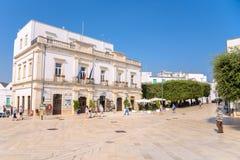 Piazza del Popolo in Alberobello-stad Stock Foto's