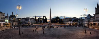 Piazza del Popolo on April 16, 2012 in Rome, Italy Royalty Free Stock Image