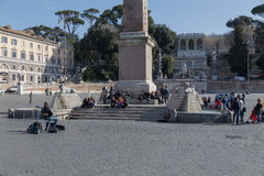 Piazza del Popolo in central Rome Stock Photo