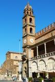 Piazza del Popolo dans Faenza, Italie Photographie stock