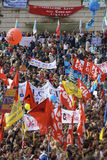 Piazza del popolo durante il colpo Immagine Stock