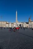 Piazza del Popolo en Roma central Imagen de archivo
