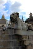 Piazza del Popolo en Roma, Italia Fotografía de archivo