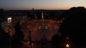 Piazza del Popolo en Roma, Italia almacen de metraje de vídeo