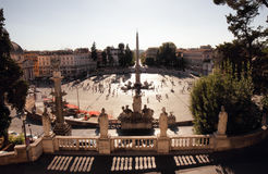Piazza del Popolo, large urban square in Rome Royalty Free Stock Photos