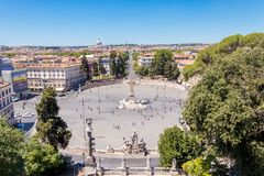The Piazza del Popolo stock photos