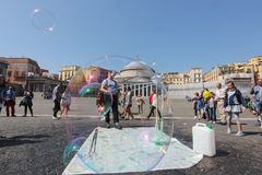 Piazza del Popolo in Naples Royalty Free Stock Photography