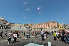 Piazza Del Popolo in Neapel Stockfoto