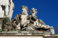 Piazza del Popolo People`s Square named after the church of Sa. Nta Maria del Popolo in Rome, Italy Stock Image
